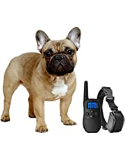 eXuby Shock Collar for Small Dogs with Remote - Includes 2 Collars (Small and Medium) + Free Dog Clicker Training – 3 Modes (Sound, Vibration & Shock) with Rechargeable Batteries