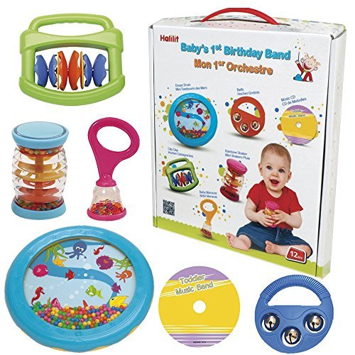 Amazon Halilit Babys First Birthday Band Musical Instrument Gift Set By Baby