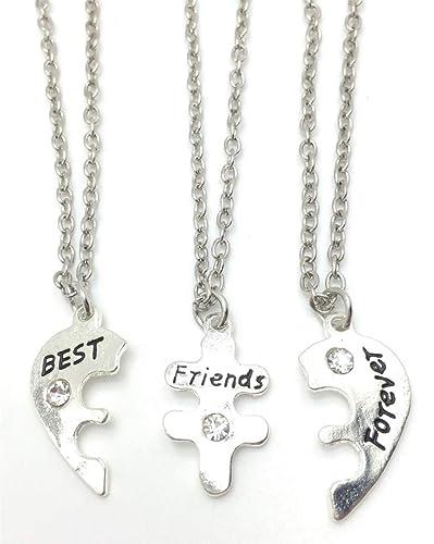 Best Friends Forever 3 parte collares colgantes de amistad