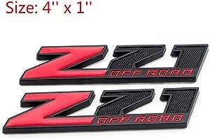 "Usudu CV-Z71 2X "" Z71 OFF ROAD "" Metal 5'' Emblem Badge Decal Sticker For GM Tahoe, Suburban, Avalanche, Silverado, Yukon, Denali, Sierra (Black)"