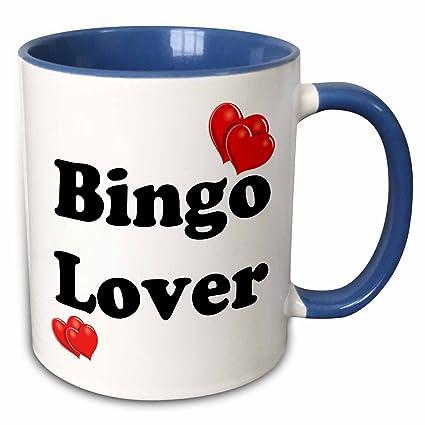 3drose Evadane Funny Quotes Bingo Lover 15oz Two Tone Blue Mug Mug10831511
