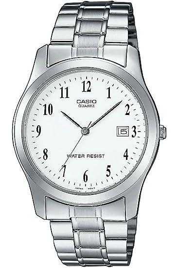 Casio MTP-1141A-7BEF - Reloj (Reloj de Pulsera, Acero Inoxidable, Acero Inoxidable, Acero Inoxidable, Mineral, Alrededor)