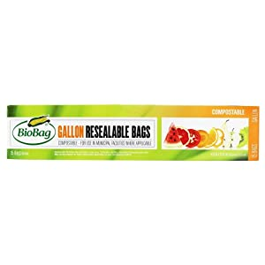 BioBag Gallon Food Storage Bags, Pack of 15