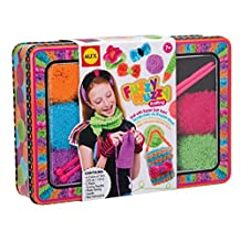 ALEX Toys - Fuzzy Wuzzy Knitting Kit with Needles, Yarn and Keepsake Tin, 187T