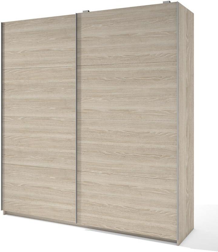 LIQUIDATODO ® - Armario de 2 puertas correderas moderno y barato de 201 cm en color Sable: Amazon.es: Hogar