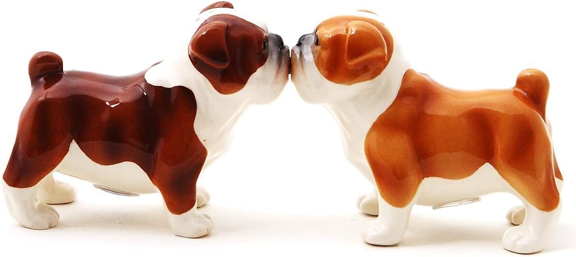 Bulldog Ceramic Salt /& Pepper Shakers