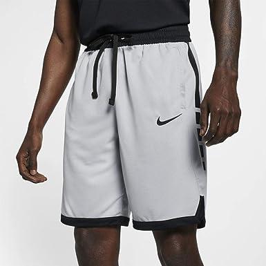 Nike Men's Dry Fit Elite Basketball Shorts Wolf Grey/Black Size Large