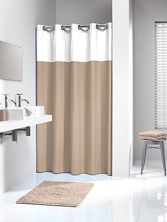 Hookless Shower Curtain Sealskin Doppio Beige