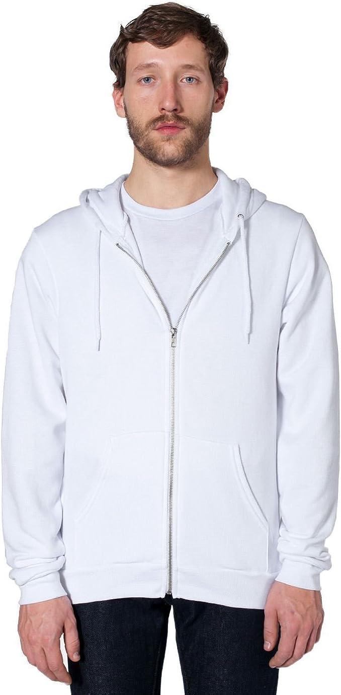 American Apparel Flex Fleece Zip Hoodie-White