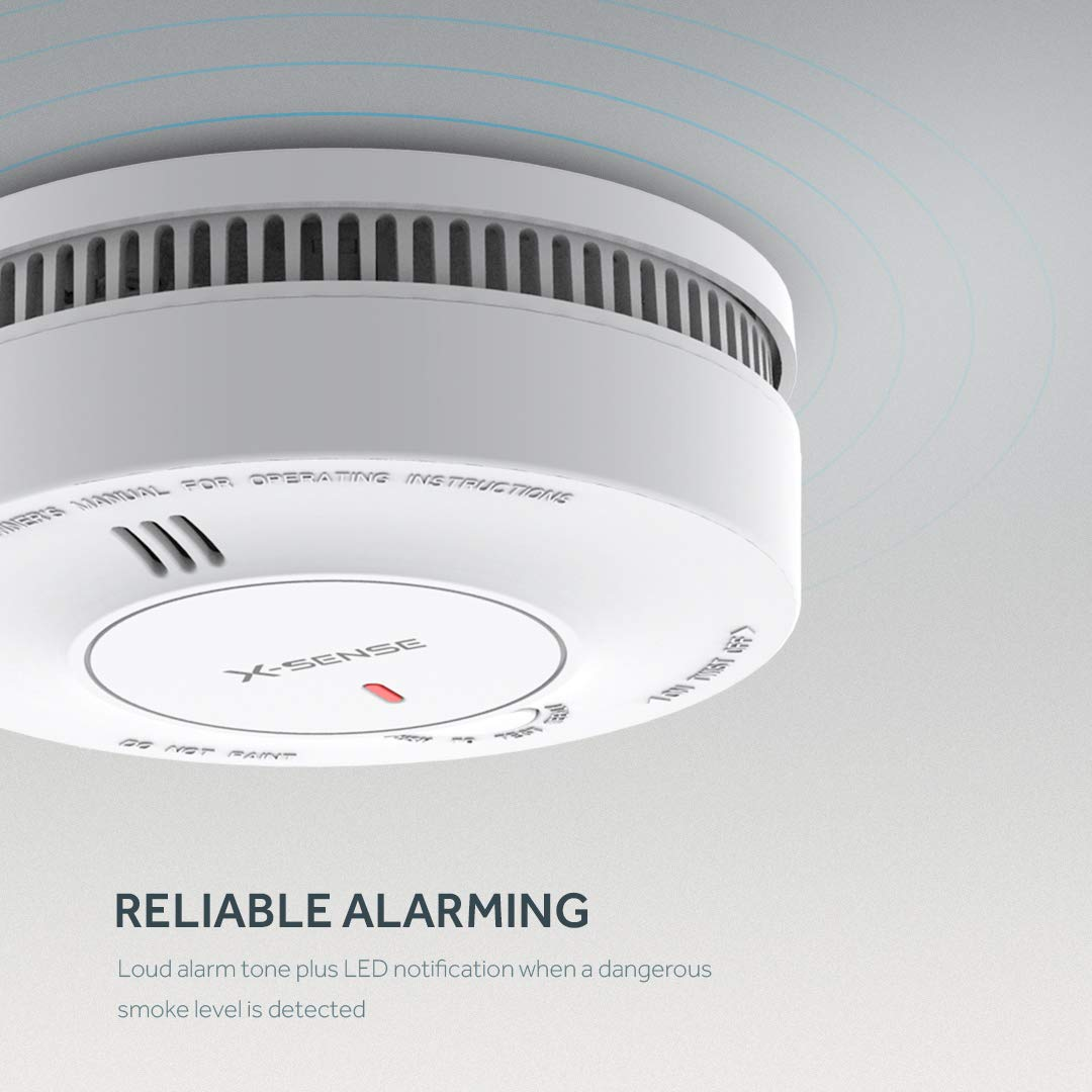 Detector de humo inteligente en blanco, detector de incendios mejorado, aprobado por TÜV y EN14604: Amazon.es: Industria, empresas y ciencia