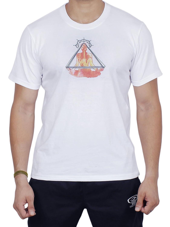 Store Indya, Camiseta de manga corta unisex Yoga de 100% algodon (azul, XL) storeindya UK-SI-CC-11 A