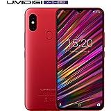 UMIDIGI F1 SIMフリースマートフォン Android 9.0 6.3インチ FHD+ 大画面 ノッチ付きディスプレイ 128GB ROM + 4GB RAM Helio P60オクタコア 5150mAh大容量バッテリー 18W高速充電 16MP+8MPデュアルリアカメラ 顔認証 指紋認証 レッド