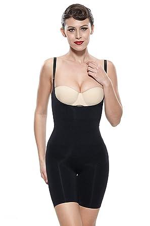 50542e0c1d24b Franato Women s Firm Control Slimming Bodysuit Wear Your Bra Best Body  Shaper (S