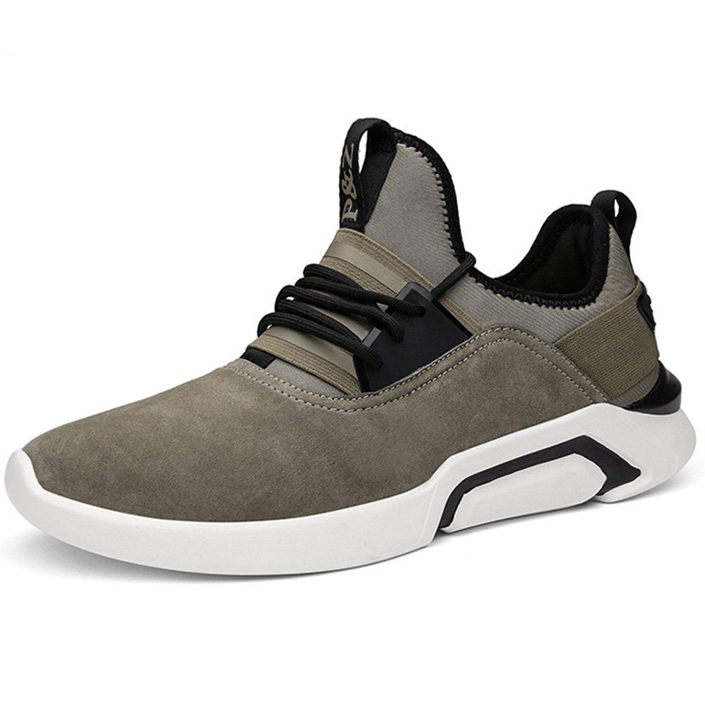YIXINY Schuhe Turnschuhe 2039 Frühling Und Herbst Mode Leicht Und Atmungsaktiv Verschleißfest Sport Und Freizeit Herrenschuhe (Farbe   Khaki, größe   EU40 UK7 CN41)