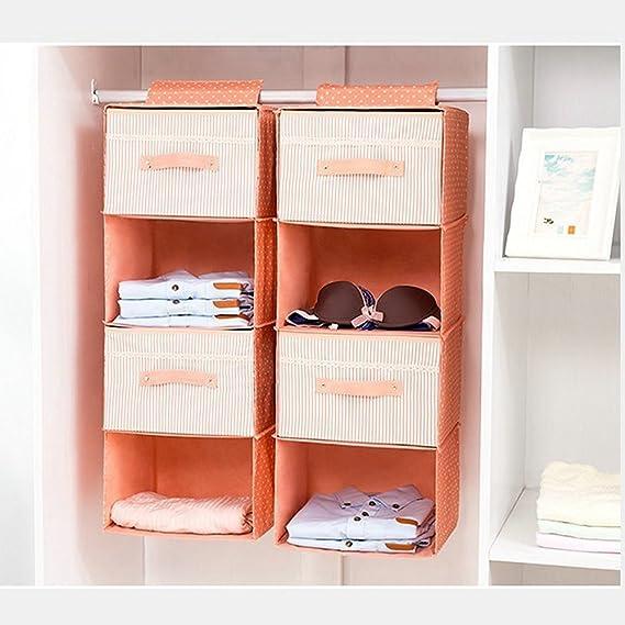 Xzeit para Colgar Organizador, 4-Shelf para Colgar Armario ...