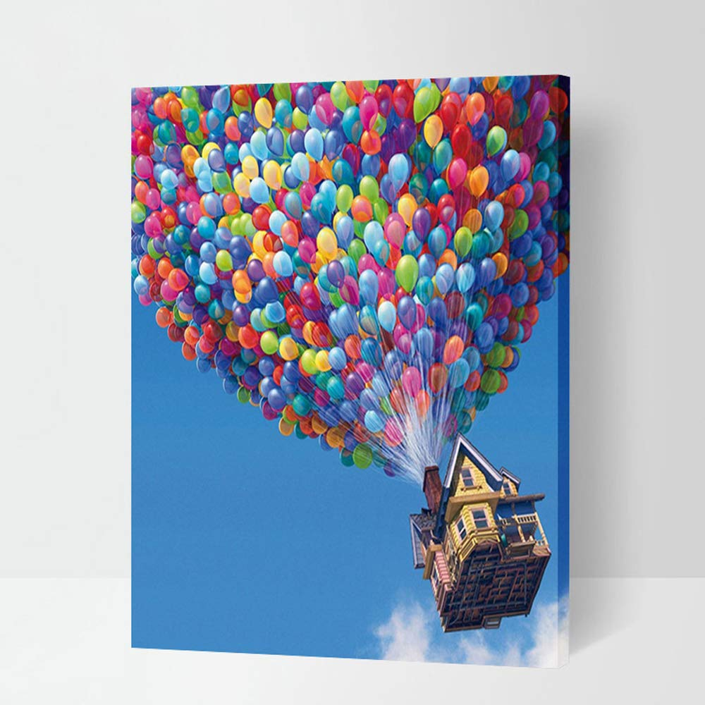 Paint By Number Kits Paintworks DIY Oil Painting for Kids and Adults Beginner,Painting on Canvas with Frame 16x20inch(Colorful Balloon) by iFymei