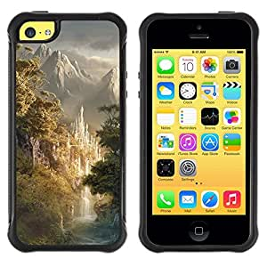 "Hypernova Defender Series TPU protection Cas Case Coque pour Apple iPhone 5C [Diseño japonés montañas Forrest""]"