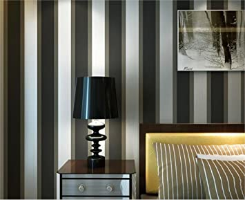 QXLML Tapete Vliestapete Modernen Minimalistischen Schwarz Grau Gestreiften  Hauptverbesserung Tapete Schlafzimmer Wohnzimmer TV Hintergrund Wand
