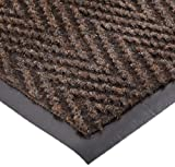 NoTrax 105 Chevron Entrance Mat, for Lobbies and Indoor Entranceways, 4' Width x 8' Length x 5/16'' Thickness, Brown