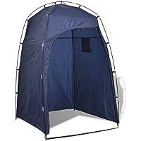 vidaXL Duschzelt Toilettenzelt Umkleidezelt Beistellzelt Lagerzelt Camping Blau/Grün