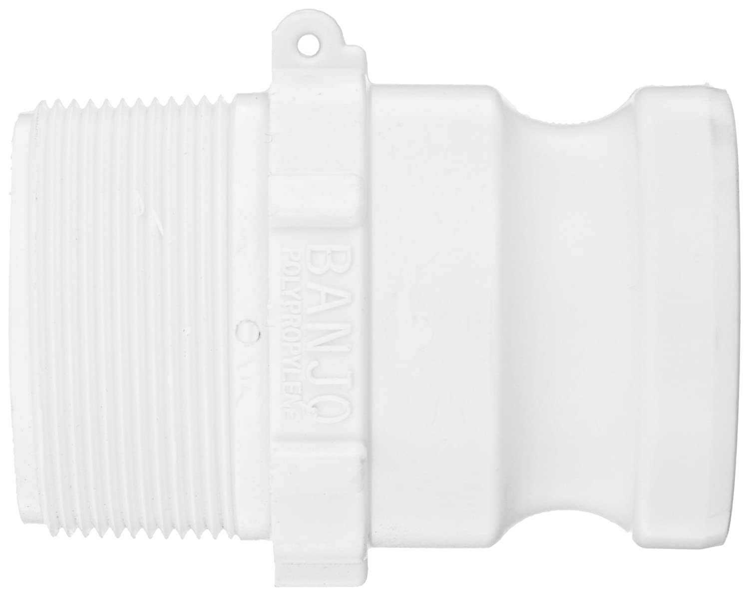 4 Length x 2-1//2 Width x 2-1//2 Height 2 BSP Thread for Intermediate Bulk Containers Grayling 8499010 Quick Connect//Disconnect Adapter White
