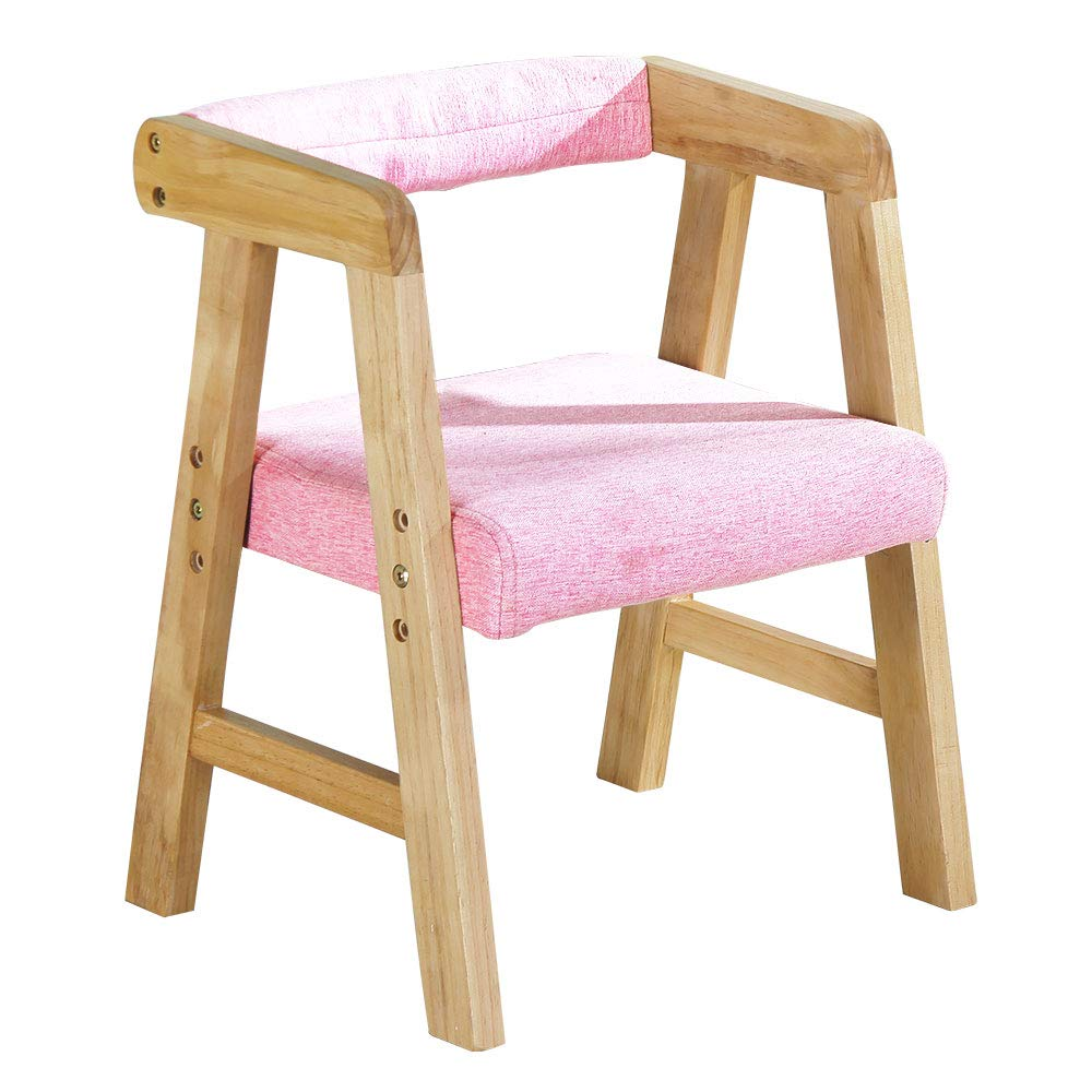 YouHi Kids Chair Wooden Chair for Toddlers Height-Adjustable Chair Comfortable Sponge Seat for Daycare Preschool Children's Room(Pink) by YouHi