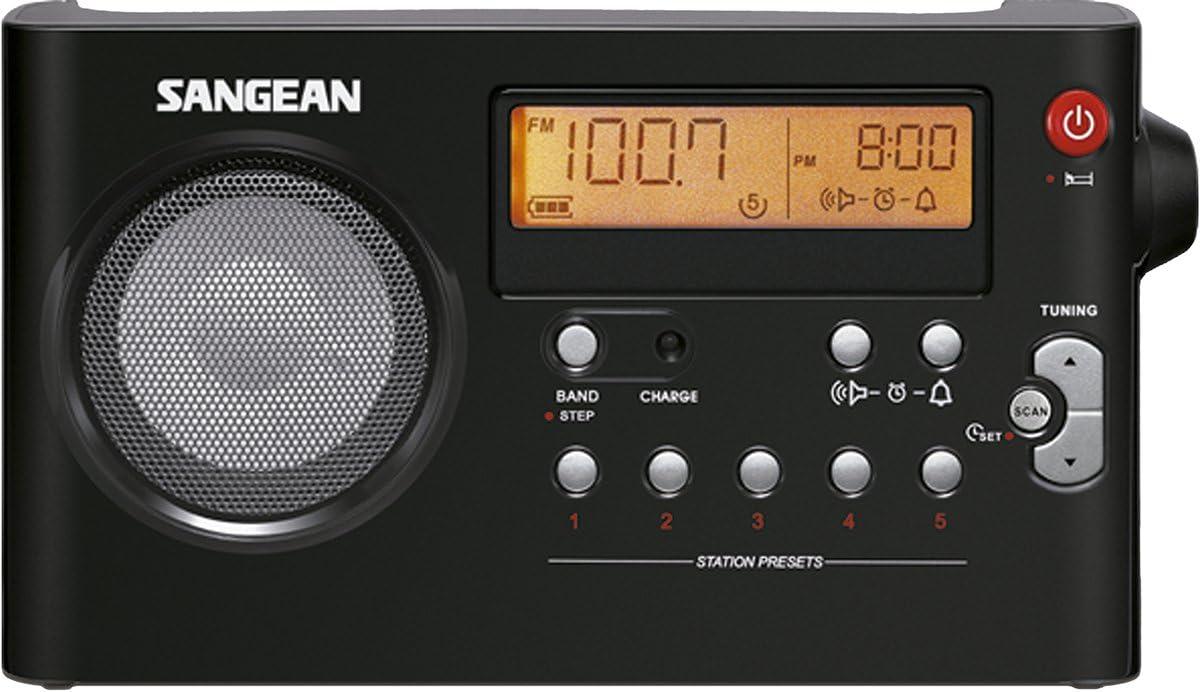 Sangean PR-D7 - Radio portátil (Pantalla LCD de 3.3