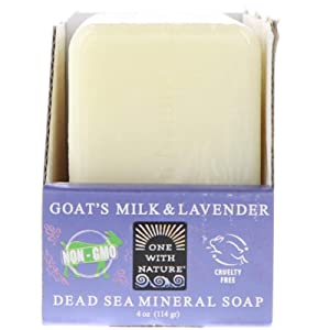 One with Nature Dead Sea Mineral Soap, Goat's Milk & Lavender, 6 Bars, 4 oz (114 g) Each