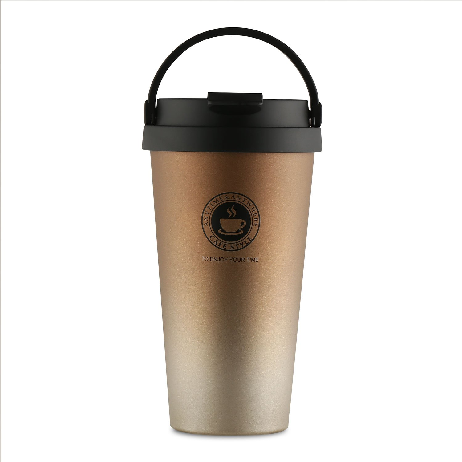 Home / portable Stainless Steel Coffee Mug Insulation / cold Beer Cup acuum Insulated Double-Walled 18/8 Stainless Steel Hydro Travel Mug Coffee color 17OZ (500ml) by SEPT MIRACLE (Image #4)