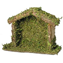 Wood Nativity Stable Creche 4 x 5.5 Inch
