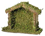 excellent rustic mantel decoration ideas BANBERRY DESIGNS Wood Nativity Stable Creche 4 x 5.5 Inch