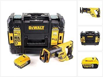 DeWalt DCS 367 - Sierra de sable sin escobillas (18 V, en caja TSTAK y batería DCB 184 de 5,0 Ah): Amazon.es: Bricolaje y herramientas