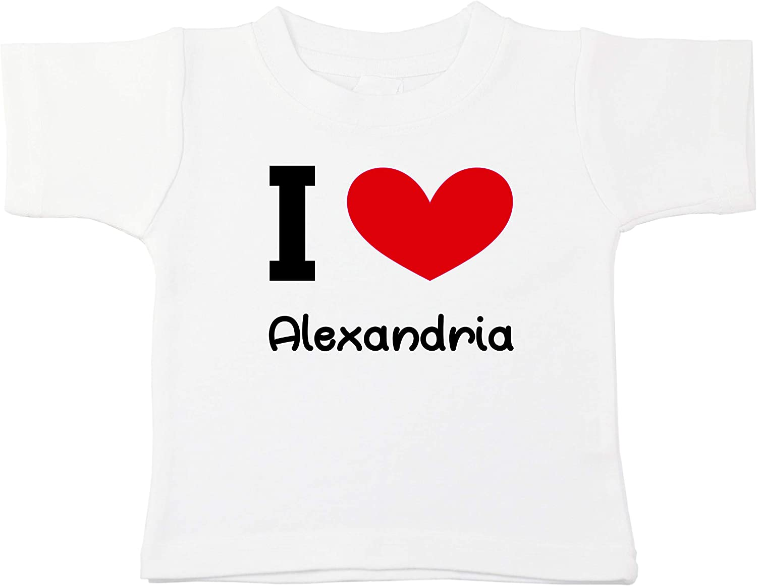 Kinacle I Love Alexandria Personalized Baby//Toddler T-Shirt