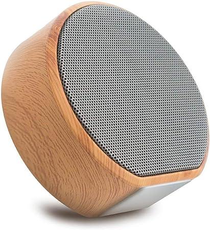 Altavoces portátiles Retro Bluetooth de Madera Altavoz portátil inalámbrico al Aire Libre Mini Ordenador Bluetooth Caja de Sonido Soporte AUX TF Tarjeta (Color : A): Amazon.es: Hogar