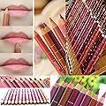 Aoohe 12 Colors Lipliner Waterproof Lip Liner Pencil Makeup Set