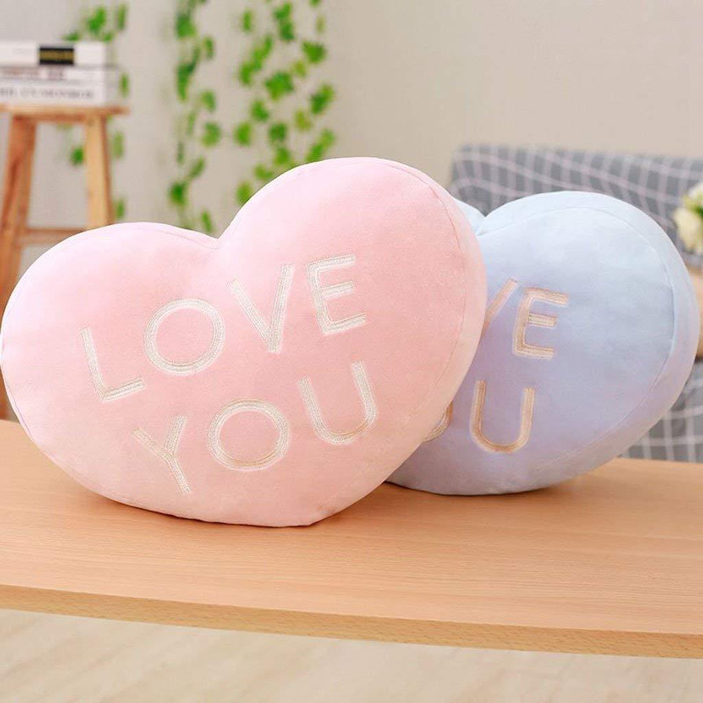 CQSMOO Stuhlkissen Kreative Liebe Sie Heart-Shaped Halten Kissen Home Bedside Sofa Kissen Kind Stofftier Geschenk 40  30 cm by