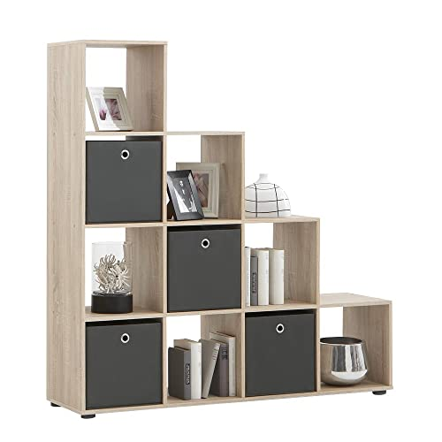 FMD Bookcase Mega 2, 138.5 X 143.5 X 33.0 Cm, Oak