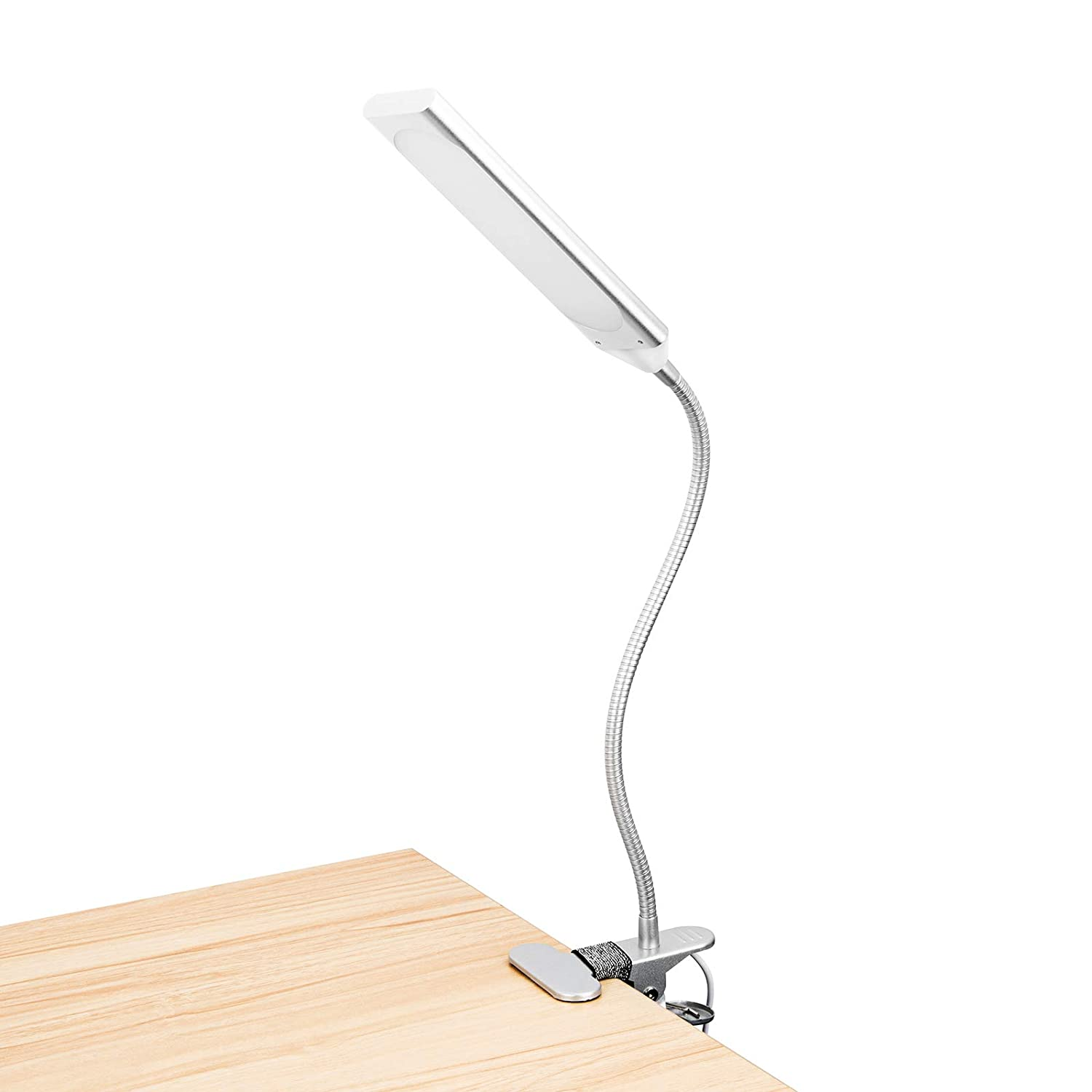 RAOYI LED Desk Lamp Eye-Caring Table Lamps, Dimmable Office Lamp with USB Charging Port, Touch Control Sensitive, 5 Color Modes, Black, 12W LAM10A