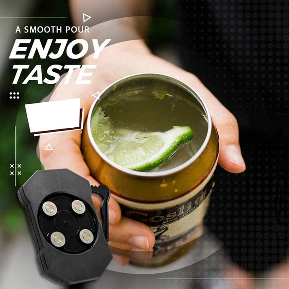 Go Swing Can Opener Topless can opener,Draft Top Beer Can Opener Multifunctional Bottle Opener for 8-19 oz Bottle Can Opener Smooth Edge Manual Beverage Cans Household Bar Tool
