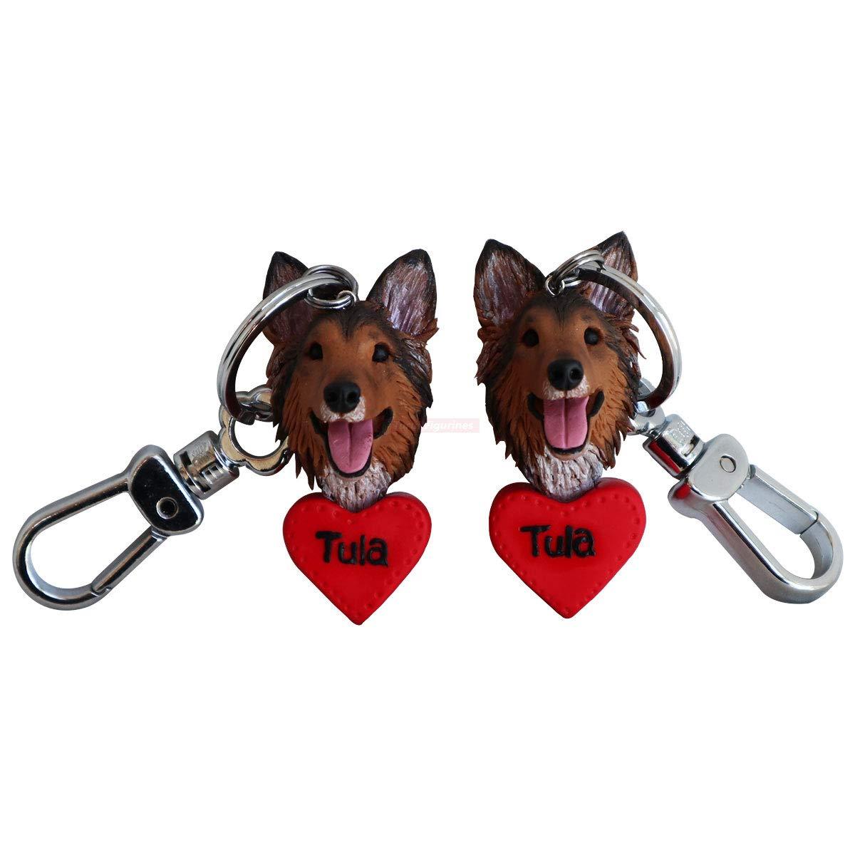 Best Friend Dog Puppy Keyring Key Ring Keychain for Women Men Friendship Christmas Birthday Thanksgiving
