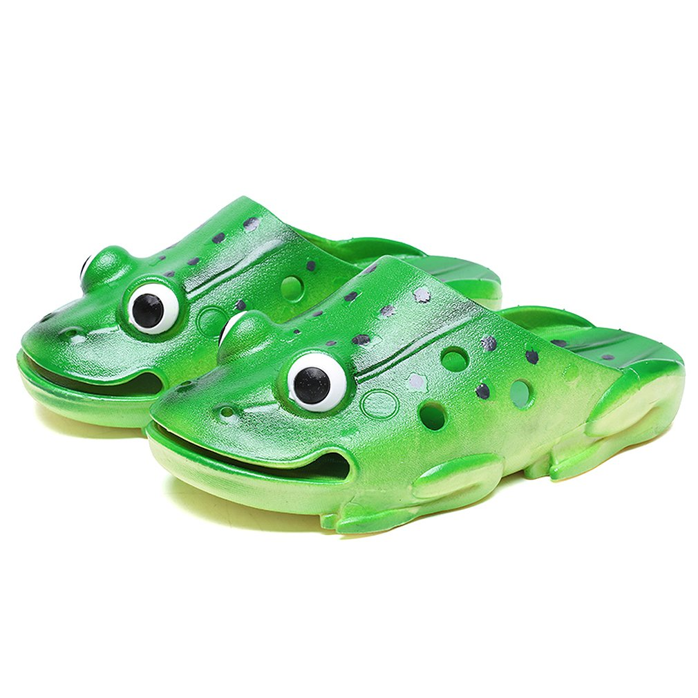 KVbaby Kid's Ultra-Soft Slipper Cute Garden Shoes Frog Clogs Summer Beach Walking Slippers