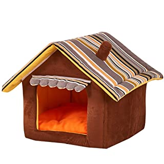 JIAQING Ferrell Dog Bed Pet House Foldable Soft Warm Sponge Cave Cute Dog Beds Kennel Nest Felpa Tienda De Felpa,XL