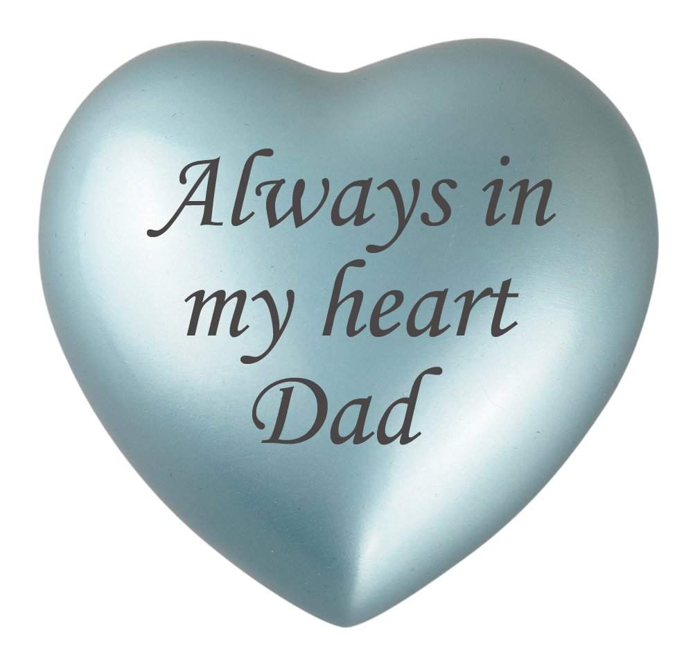 Always In My Heart Dad Blue Urn Keepsake for Ashes Cremation Love to Treasure