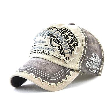 3881313f35b9 Fintier 男女兼用 タイガーキャト ベースボールキャップ 野球帽 カジュアル CAP 帽子 アウトドア スポーツ キャップ