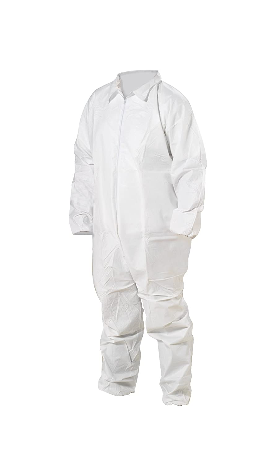 Case of 25 4X-Large High Five AC157 Microporous WBP Coverall with Zip Front Elastic Wrists and Ankles White