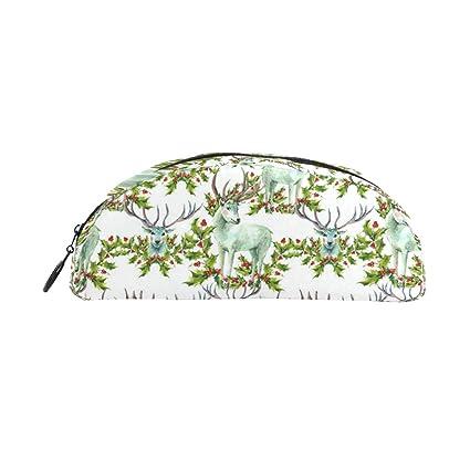 4d2952b6d57 Amazon.com   Snow White Deer Holly School Pencil Case Pencil Bag ...