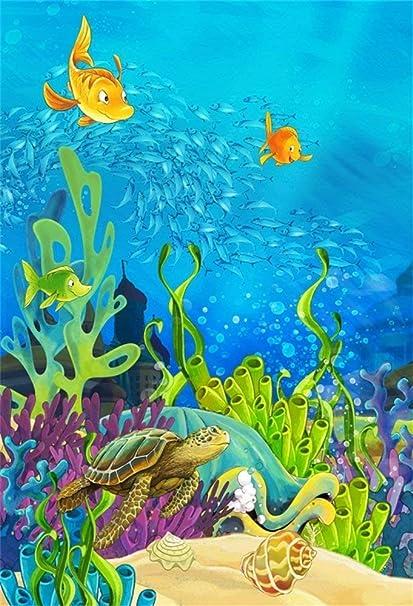 Edcott 8x10ft Vinyl Meeresboden Unterwasser Kleine Kamera