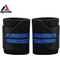 APRODO 2 Pcs Weight Lifting Wrist Wrap Gym Training Wrist Straps Length 18 inch