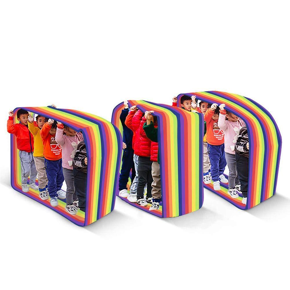 Hualieli Rainbow Run Mat Actividad De Aprendizaje Grupal para Ni/ños Jugar con Oxford Cloth para La Colaboraci/ón En La Construcci/ón De Equipos Herramienta De Entrenamiento En La Carrera De Obst/áculos