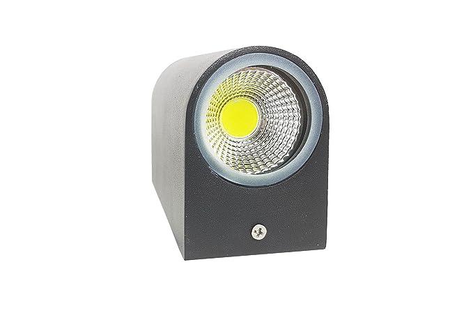 Plafoniera Luce Calda : Applique led w nero lampada luce calda parete plafoniera faretto